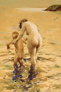 Her First Dip by Anders Leonard Zorn