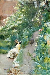In the Gardens of Alhambra. 1887 by Anders Leonard Zorn