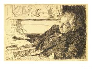 Portrait of Ernest Renan, 1892 by Anders Leonard Zorn