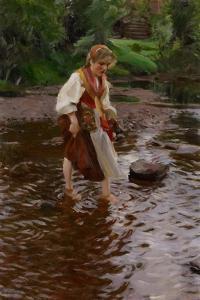 The Girl from Alvdalen, C.1911 by Anders Leonard Zorn