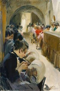 The Lacemakers (Spetsknypplerskor), Venice, 1894 by Anders Leonard Zorn