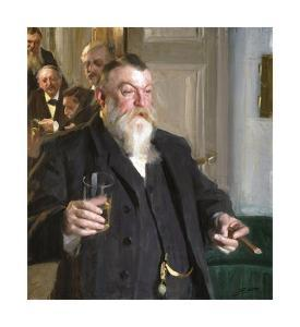 A Toast in the Idun Society by Anders Zorn
