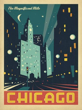 Chicago: The Magnificent Mile (Night Lights) by Anderson Design Group