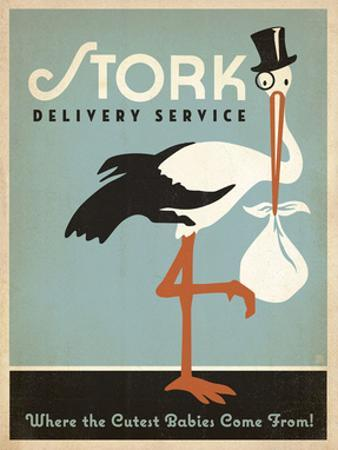 Stork Delivery Service (Blue) by Anderson Design Group