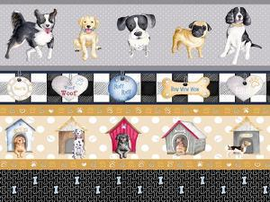 A Dogs Life on Plaid Panels by Andi Metz