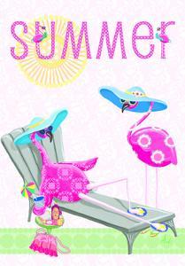Flamingo Summer I by Andi Metz