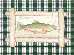 Framed Lake Fish II by Andi Metz