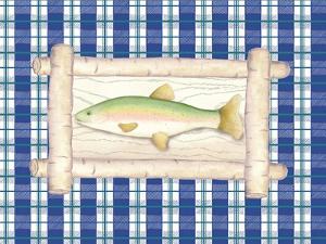 Framed Lake Fish III by Andi Metz