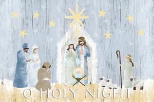O Holy Night Nativity by Andi Metz