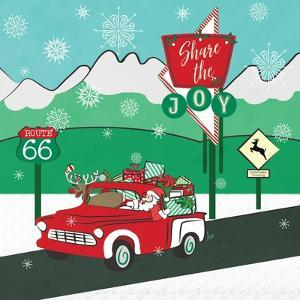 Retro Santa Driving I by Andi Metz