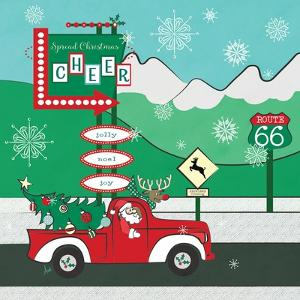 Retro Santa Driving II by Andi Metz