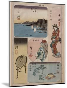 9ème vue : Oïso, 10ème vue : Odawara, 11ème vue : Hakone ; 12ème vue : Numazu by Ando Hiroshige