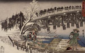 Acte XI : attaque nocturne, 1 : l'avancée by Ando Hiroshige