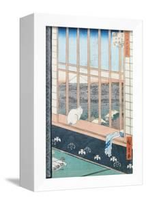 """Asakusa Rice Fields During the Festival of the Cock from the Series """"100 Views of Edo,"""" Pub. 1857 by Ando Hiroshige"""