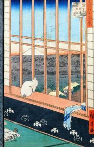 "Asakusa Rice Fields During the Festival of the Cock from the Series ""100 Views of Edo,"" Pub. 1857 by Ando Hiroshige"
