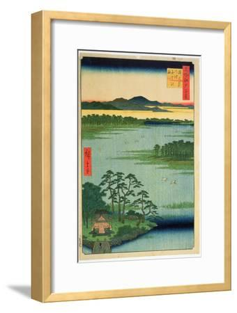 Benten Shrine, Inokashia Pond, from the Series 'One Hundred Famous Views of Edo', 1856