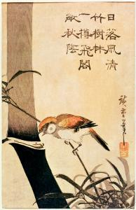 Bird and Bamboo, circa 1830 by Ando Hiroshige