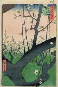 Branch of a Flowering Plum Tree by Ando Hiroshige