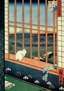 Celebration of the Cock Festival in the Ricefields near Asakusa by Ando Hiroshige