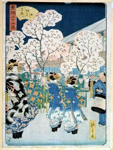 Cherry Blossom at Asakura by Ando Hiroshige