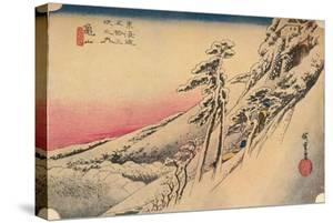 Clear Weather after Snow at Kameyama, from 53 Stations of Tokaido, (1832), 1903 by Ando Hiroshige