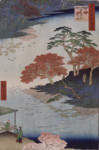 Dans l'enceinte sacrée de sanctuaire d'Akiba by Ando Hiroshige