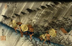 Driving Rain, Shono by Ando Hiroshige