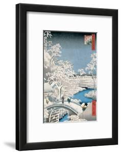 Drum Bridge at Meguro by Ando Hiroshige