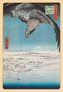 Eagle Flying over the Fukagama District by Ando Hiroshige