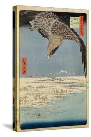 Eagle over 100,000 Acre Plain at Susaki, Fukagawa ('Juman-Tsubo'), from the Series '100 Views of…