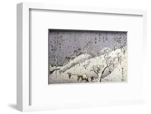 Evening Snow at Asuka Hill by Ando Hiroshige