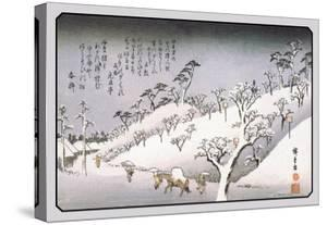 Evening Snow in Asakusa by Ando Hiroshige