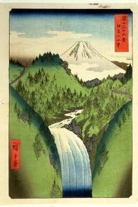 Fuji from the Mountains of Isu, No.22 from the Series '36 Views of Mt.Fuji' ('Fuji Saryu Rokkei') by Ando Hiroshige
