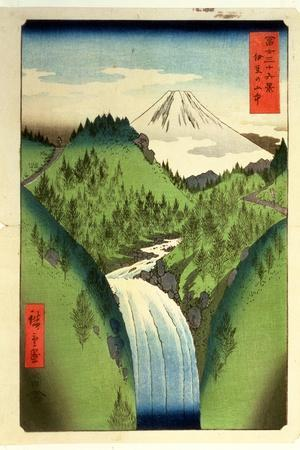 Fuji from the Mountains of Isu, No.22 from the Series '36 Views of Mt.Fuji' ('Fuji Saryu Rokkei')