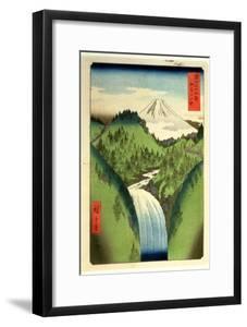 Fuji from the Mountains of Isu, No.22 from the Series '36 Views of Mt.Fuji' ('Fuji Saryu Rokkei') by Ando Hiroshige