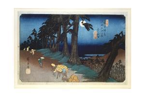 Full Moon at Mochizuki, from 69 Stations of Kisokaido, 1832 by Ando Hiroshige