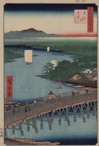 Great Bridge at Senju by Ando Hiroshige