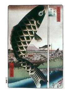 Hiroshige: Kites, 1857 by Ando Hiroshige