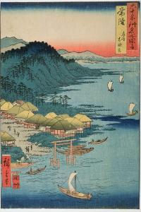 Hitachi Province: Kashima Great Shrine, from the Series 'Illustrations of Famous Places in the… by Ando Hiroshige