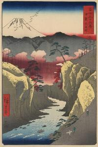 Inume Pass in Kai Province by Ando Hiroshige