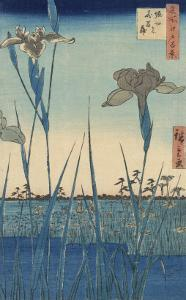 Irises at Horikiri by Ando Hiroshige