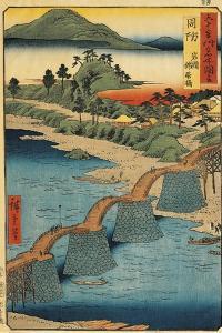 Italy, Genoa, the Kintai Bridge in Suho by Ando Hiroshige