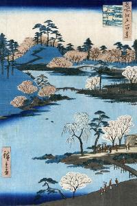 Japan: Hachiman Shrine, 1857 by Ando Hiroshige