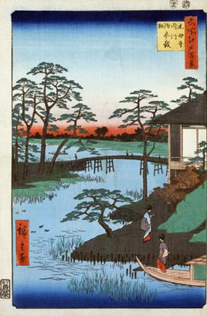 Japan: Inlet, 1857 by Ando Hiroshige