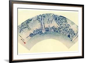 Japanese Fan Print (Ogi Shap), 19th Century by Ando Hiroshige
