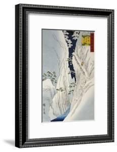 Kiso Gorge in New Snow by Ando Hiroshige