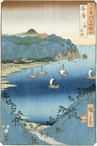 Kominato Bay, Awa Province by Ando Hiroshige