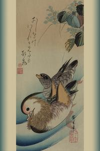 Mandarin Ducks by Ando Hiroshige