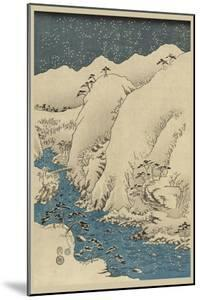 Mountains and Rivers on the Kiso Road (Kisoji No Sansen) No.1 by Ando Hiroshige