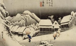 Neige de nuit à Kambara by Ando Hiroshige